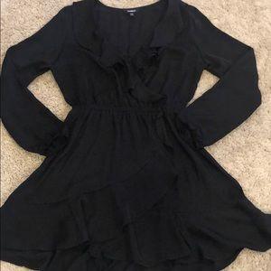 Black express wrap dress